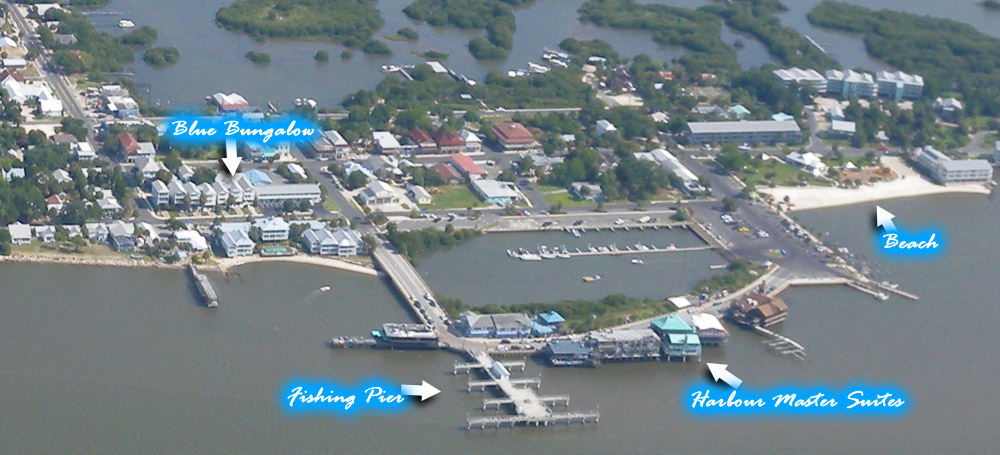 aerial photo of Cedar Key, FL